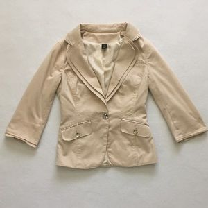 White House Black Market Beige Khaki Jacket 00